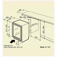 Винный шкаф IP Industrie CI 141 CF Х