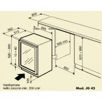 Винный шкаф IP Industrie JG 45-6 AD X