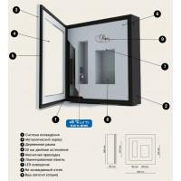 Настенная винная витрина IP Industrie QV12-N1152B